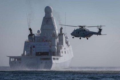 El buque de guerra holandés HNLMS Groningen está operando desde principios de julio contra el narcotráfico en el Caribe