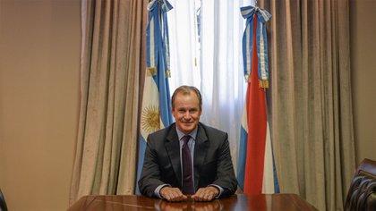 El gobernador de Entre Ríos, Gustavo Bordet (Julieta Ferrario)