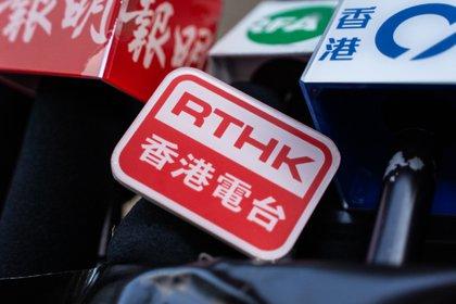 19/02/2021 Logo de la POLITIQUE de la radio et de la télévision publiques de Hong Kong JAPON ASIE HONG KONG INTERNATIONAL CHAN LONG HEI / ZUMA PRESS / CONTACTOPHOTO