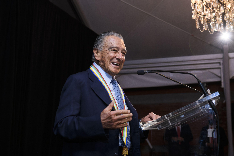 Eduardo Eurnekian, uno de los galardonados por la Americas Society en la noche de Nueva York (Paula Abreu Pita/Roey Yohai Photography)