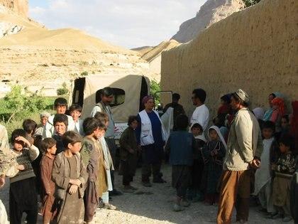 En uno de sus viajes con Médicos sin Fronteras