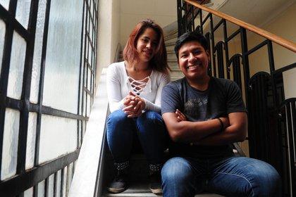 Mariana Pérez y David Paredes pasaron por hogares de acogida y hoy ayudan a los más jóvenes
