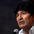 FILE PHOTO: Bolivia's former President Evo Morales speaks next to Bolivia's former Economy Minister and Movement to Socialism's (MAS) presidential candidate Luis Arce Catacora (not pictured) during a news conference in Buenos Aires, Argentina, January 27, 2020. REUTERS/Mario De Fina/File Photo