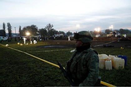El 18 de enero del 2019, una toma clandestina de Pemex explotó en la comunidad San Primitivo (Foto: Reuters/Henry Romero)