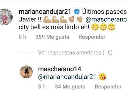 La cómplice respuesta de Mascherano al comentario de Mariano Andújar pidiendo por su vuelta a la Argentina, más precisamente a Estudiantes de La Plata (mascherando14)