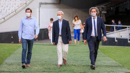 Juan Pablo Biondi, Julio Vitobello, Santiago Cafiero: tres hombres del Presidente