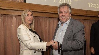 La juez María Eugenia Capuchetti y el fiscal Carlos Stornelli