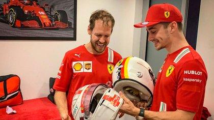 Vettel y Leclerc fueron compañeros en Ferrari desde 2019 (@charles_leclerc)