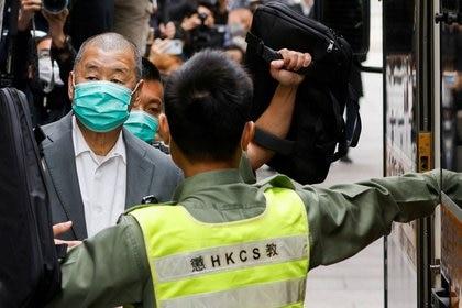 Foto de archivo: El magnate de los medios Jimmy Lai, fundador de Apple Daily, en Hong Kong, China, el 9 de febrero de 2021 (Reuters/ Tyrone Siu)