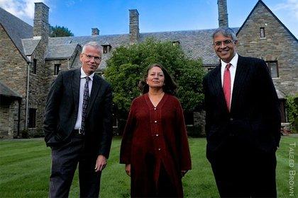 Martin Kuldorff , Jay Bhattacharya y Sunetra Gupta, autores de la Declaración de Great Barrington