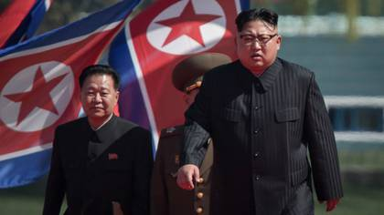 Kim Jong-un, dictador de Corea del Norte, durante un acto oficial en Pyongyang este jueves (AFP)
