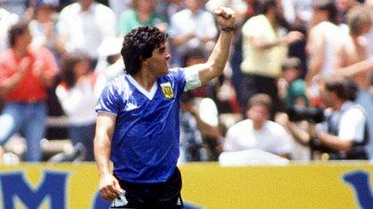 Diego Maradona, la gran figura del recordado Argentina-Inglaterra del 86 (Shutterstock)