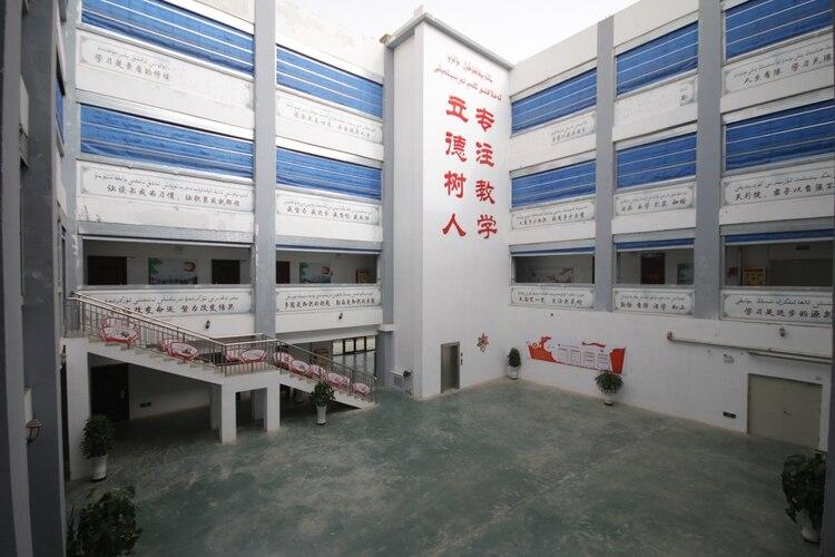 Un campo de detención para musulmanes en Xinjiang, China (Shutterstock)