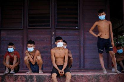 Adolescentes de la tribu Yanomami, en Brasil. Foto: REUTERS/Adriano Machado
