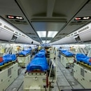 Cologne (Germany), 28/03/2020.- A handout photo made available by the German Air Force Luftwaffe shows the inside of the Airbus A-310 'Medivac August Euler' before its departure to Bergamo, in Cologne, Germany, 28 March 2020. According to the state government, various hospitals in North Rhine-Westphalia will take in ten patients from Italy and four from France infected with the Coronavirus in the next days. (Francia, Alemania, Italia, Colonia) EFE/EPA/KEVIN SCHREIB / HANDOUT HANDOUT EDITORIAL USE ONLY/NO SALES