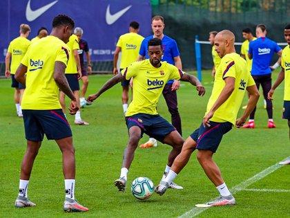 18/07/2020 Entrenamiento del FC Barcelona en julio de 2020 DEPORTES FC BARCELONA