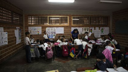 Un aula venezolana (Lihue Althabe/Infobae/archivo)