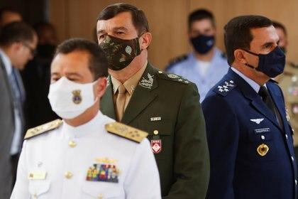 El gobierno de Bolsonaro presentó la nueva cúpula militar de Brasil (REUTERS/Adriano Machado)