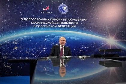 Vladimir Putin puso a Rusia como una de las naciones líderes que lucha contra el nuevo coronavirus - Sputnik/Alexei Druzhinin/Kremlin via REUTERS