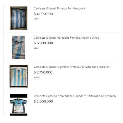 Algunas de las publicaciones que figuran en MercadoLibre alcanzan los $5.000.000.