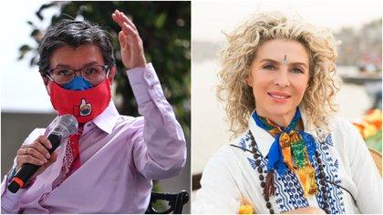 La alcaldesa de Bogotá, Claudia López le pide a la actriz Margarita Rosa no creer en noticias falsas sobre corrupción en el Distrito. Fotos: Colprensa.