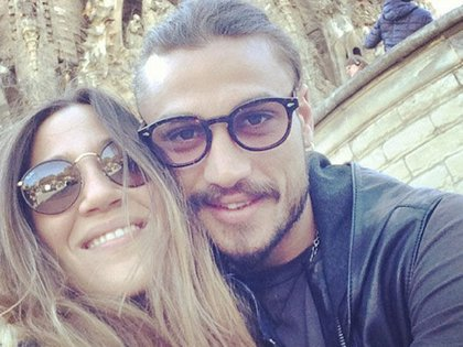 La actriz y el entonces futbolista vivieron juntos en Italia durante dos años