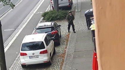 El atacante de Halle, Alemania