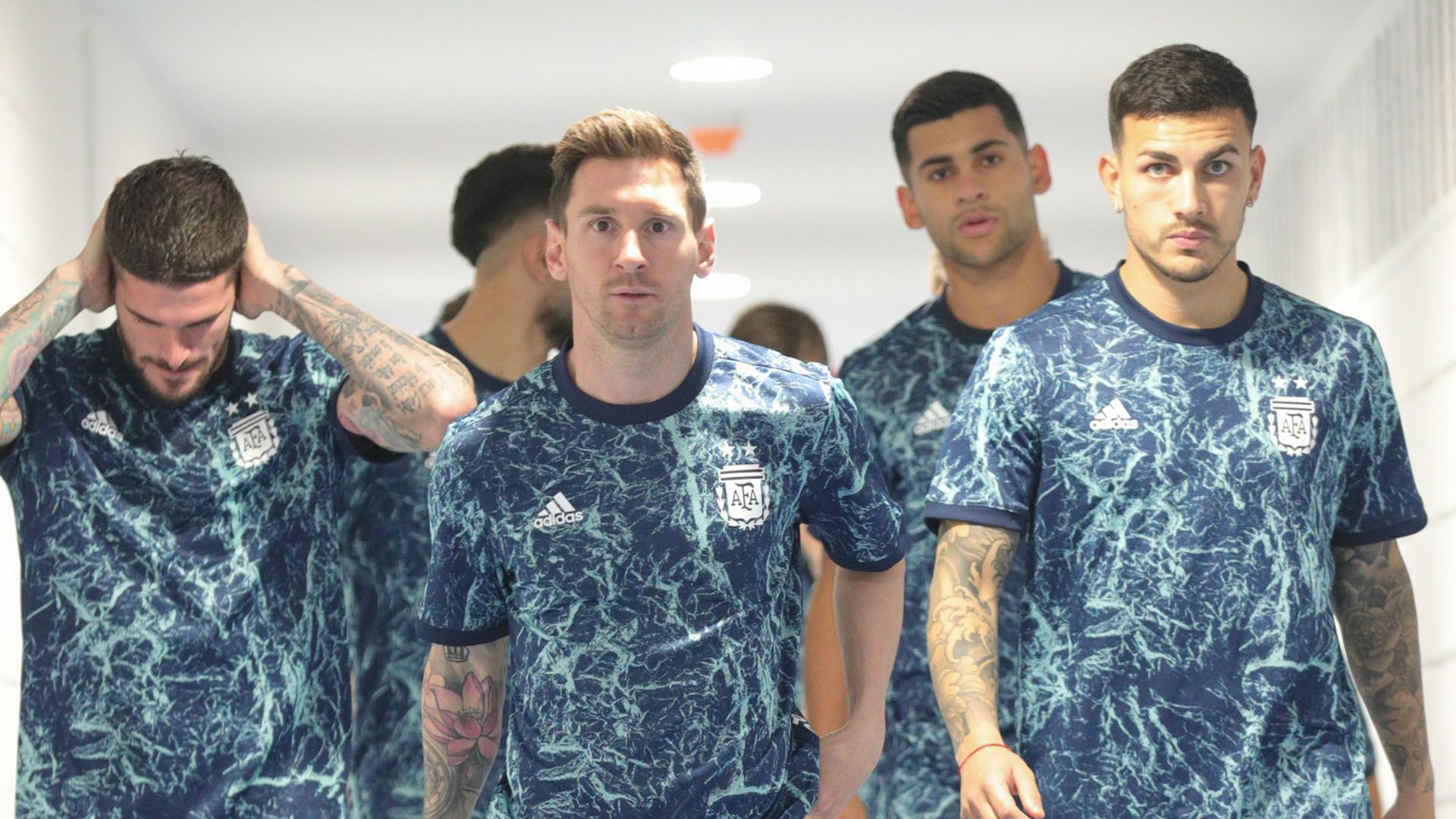 Seleccion Argentina Messi Cuti Romero Paredes De Paul