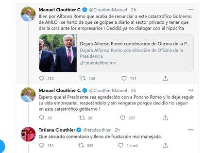 Los hermanos Clouthier discutieron tras la salida de Poncho Romo (Foto: Twitter / @ClouthierManuel)