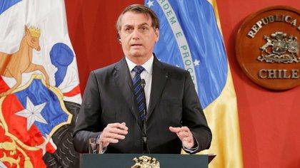 Jair Bolsonaro en Santiago de Chile (REUTERS/Rodrigo Garrido)