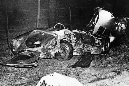 El Porsche en que viajaba y donde encontró su trágico final (Kobal/Shutterstock)