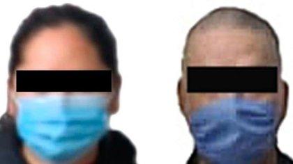 Se trasladaban en un automóvil en posesión de 75 bolsas de plástico con alrededor de 75,334 pastillas de fentanilo y 38 paquetes con nueve kilos y 180 gramos de metanfetamina (Foto: FGR)