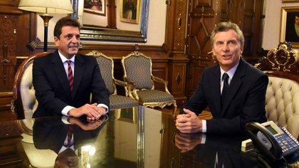 Sergio Massa y Mauricio Macri (Presidencia)