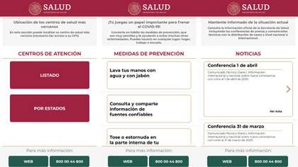 Puede llenar un formulario para saber el riesgo que tienes de portar la enfermedad COVID-19 (Foto: Captura de pantalla)