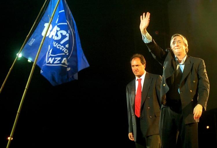 Néstor Kirchner asumió como presidente el 25 de mayo de 2003; el Gobierno quiere usar esa fecha para lanzar su agenda más allá de la deuda