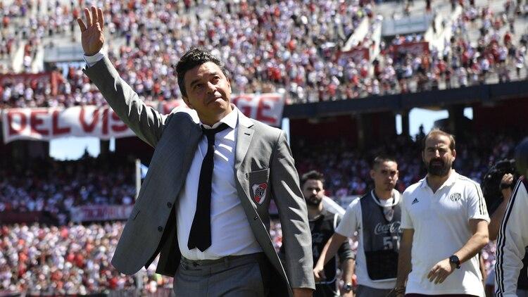 Al frente del Millonario, Gallardo ganó 11 títulos, incluidas dos Copas Libertadores (Télam)