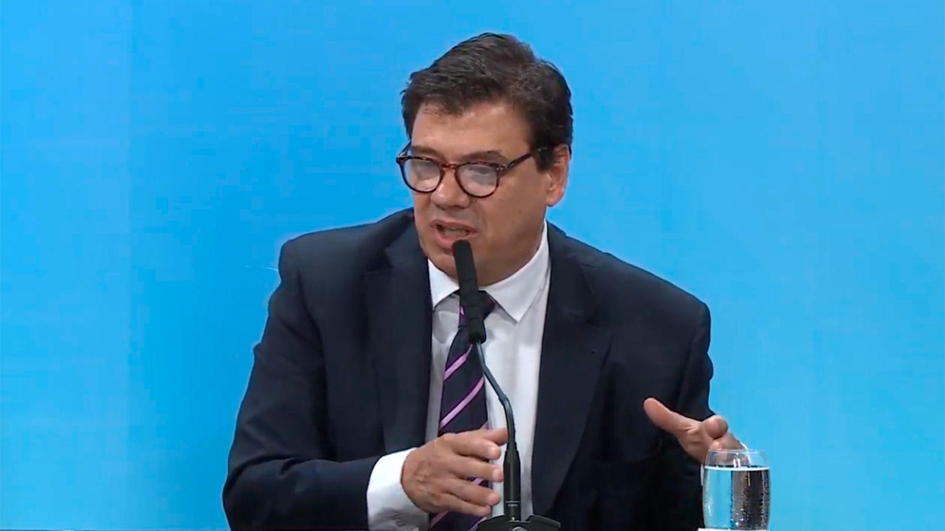El ministro de Trabajo, Claudio Moroni