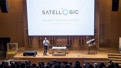 Kargieman, en enero, en el Ministerio de Ciencia, cuando lanzó sus dos últimos nanosatélites