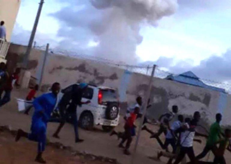 Las primeras imágenes del atentado terrorista en Somalía