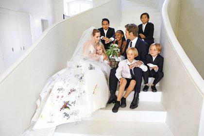 Angelina Jolie y Brad Pitt se casaron en 2014 en Francia