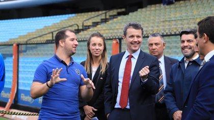 Federico preguntó particularidades sobre el club y el legendario estadio de Boca