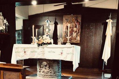 La Capilla  Santa Margarita de Escocia donde iba frecuentemente Silvia y participaba de la oraciones