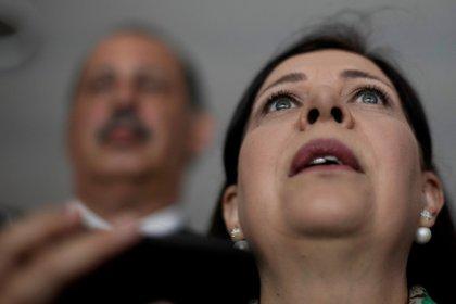 Belandria, en una conferencia de prensa en Brasilia, el 11 de febrero de 2019 (REUTERS/Ueslei Marcelino)
