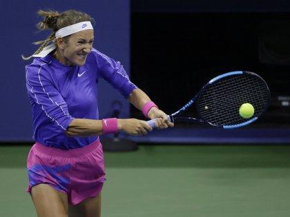 Victoria Azarenka de Bielorrusia será rival en semifinales de Serena Williams por el Abierto de Estados Unidos (EFE/EPA/JASON SZENES)
