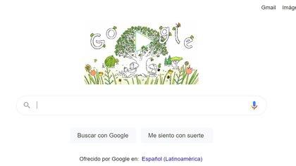 El doodle de Google celebra el Día de la Tierra