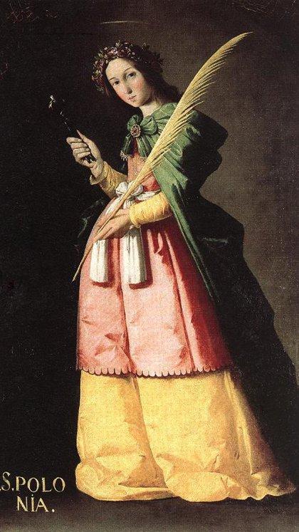 """""""Santa Apolonia"""" (1636) de Francisco de Zurbarán"""