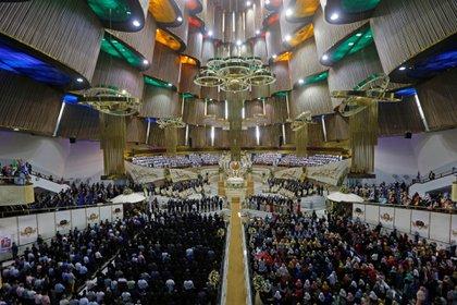 El templo de La Luz del Mundo acoge a fieles de al menos 58 distintos países (Foto: Efe)