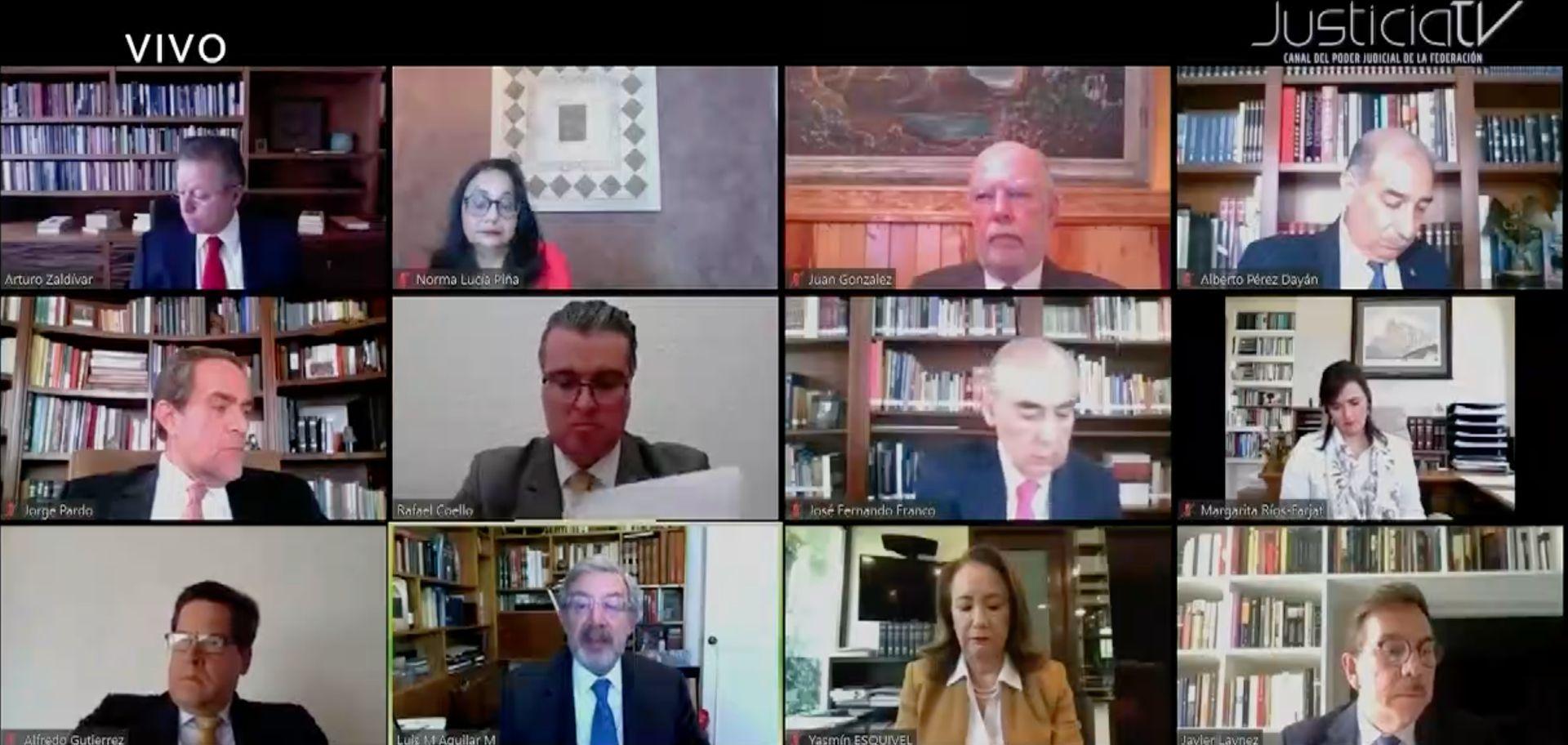 La sesión se pudo seguir a través del Canal Judicial y del sitio web de la SCJN (Foto: Captura de Pantalla Justicia TV)