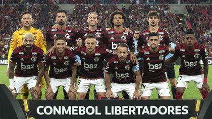 Flamengo dio un paso importante en los cuartos de final de la Libertadores (Foto Mauro Pimentel / AFP)