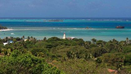 Imagen de la isla de Providencia.